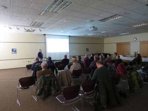 Stuart leading a Gull ID Master Class for the Northeast Wisconsin Birding Club